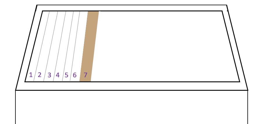 horizontale simplex kast in het eerste jaar