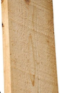 Bijen brengen een laag propolis aan op ruw hout dat niet glad geschaafd is