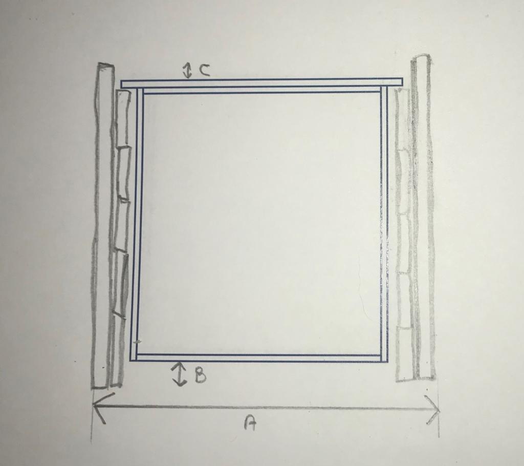 tekening raam horizontale bijenkast